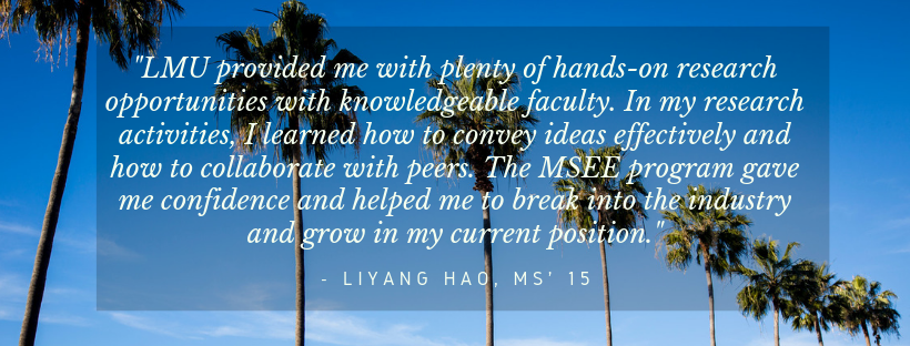 Quote from Liyang Hao, class of 2015 -